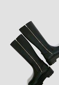 PULL&BEAR - Platform boots - black - 3