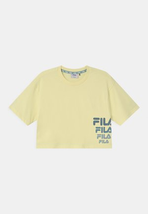 POLLY CROPPED - Print T-shirt - wax yellow