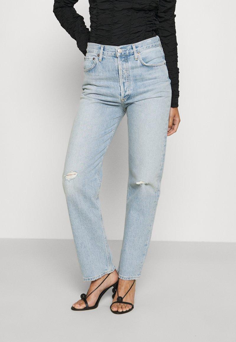 Agolde - 90'S PINCH WAIST - Straight leg jeans - flashback/light indigo