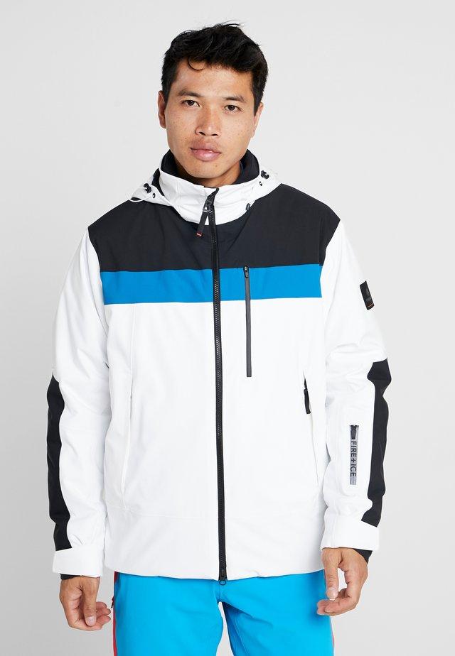DAMIAN - Giacca da snowboard - white/black