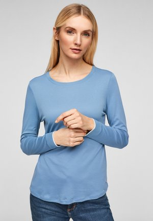 MIT RUNDHALSAUSSCHNITT - Long sleeved top - light blue