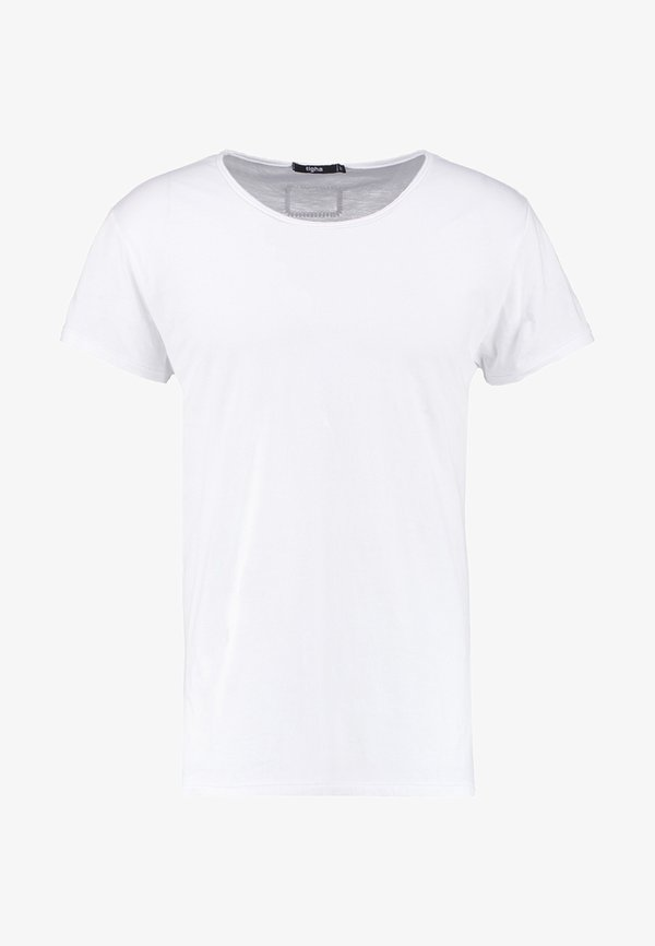 Tigha WREN - T-shirt basic - white/biały Odzież Męska MWJI