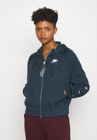 Nike Sportswear - Zip-up hoodie - deep ocean/white - 0