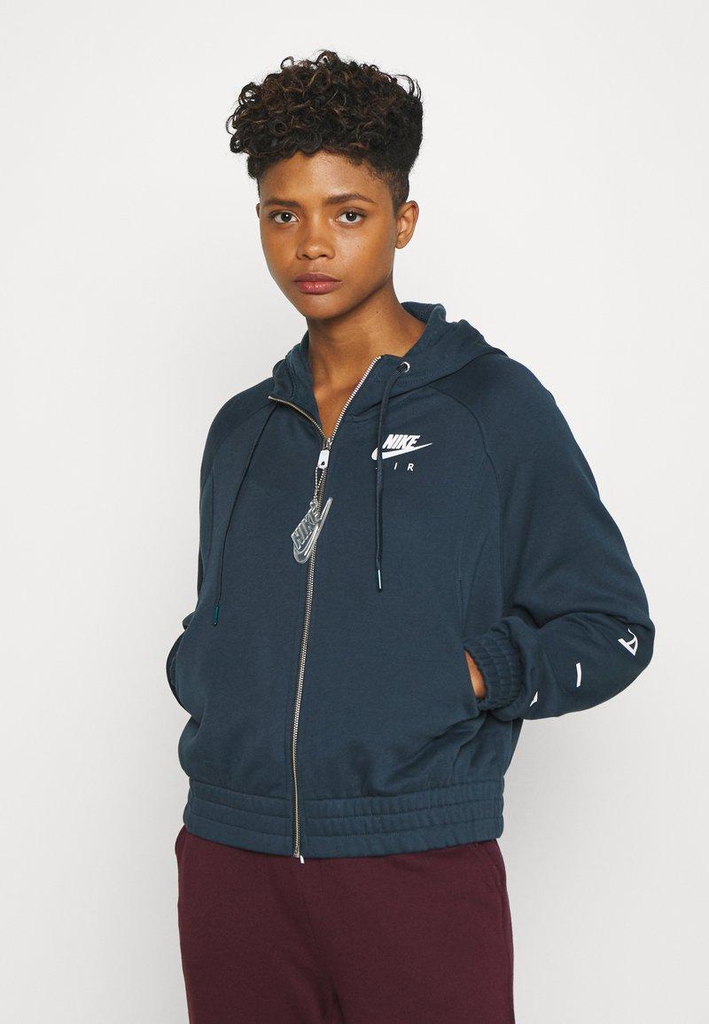 Nike Sportswear - Zip-up hoodie - deep ocean/white