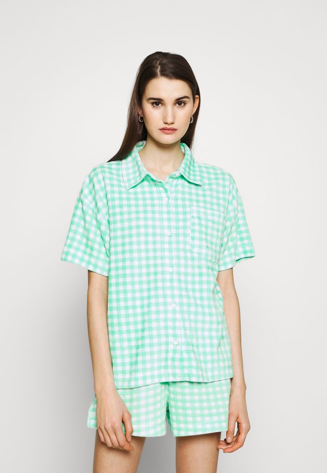GINGHAM TOWELLING - Overhemdblouse - green