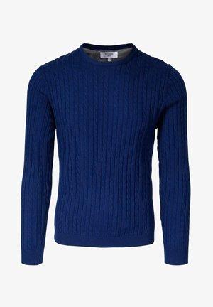 HENRY CABLE - Strikkegenser - blue
