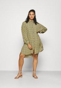 Glamorous Curve - Shirt dress - multi yellow ditsy - 0
