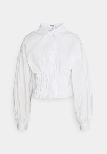 CINCHED WAIST  - Button-down blouse - white