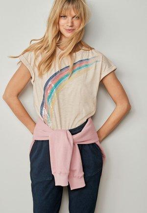 RAINBOW  - Print T-shirt - light brown