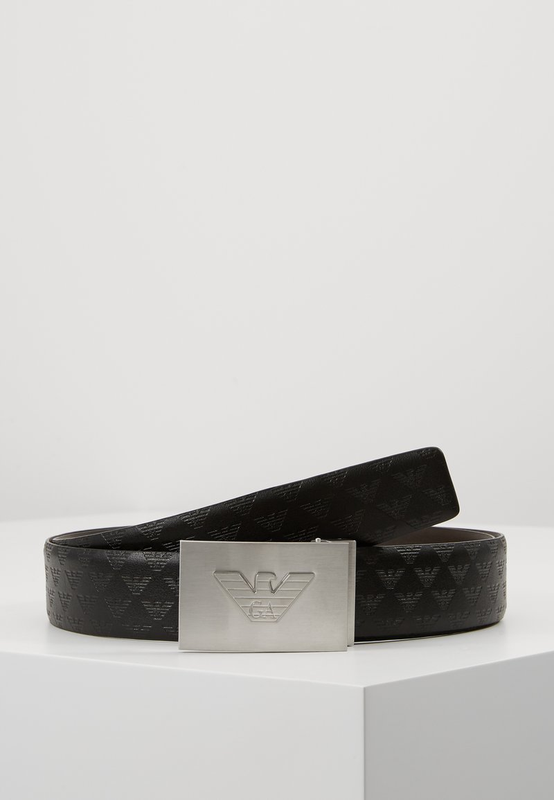 Emporio Armani - CINTURA PLATE BELT - Cintura - nero/after dark