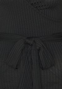 New Look - CARLEY PUFF SLEEVE BELTED - Top - black - 2