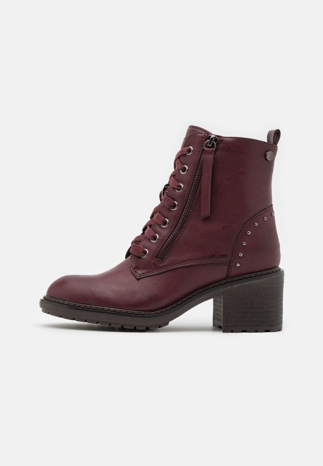 Bottines à lacets - burgundy