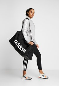 adidas Performance - LIN DUFFLE L - Sporttas - black/white - 5