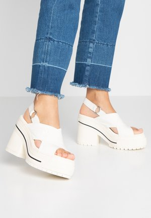 ONE STAR - High heeled sandals - egret/black