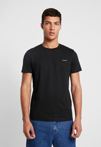 Calvin Klein Jeans - SLIM FIT 2 PACK - Basic T-shirt - bright white/black beauty - 2