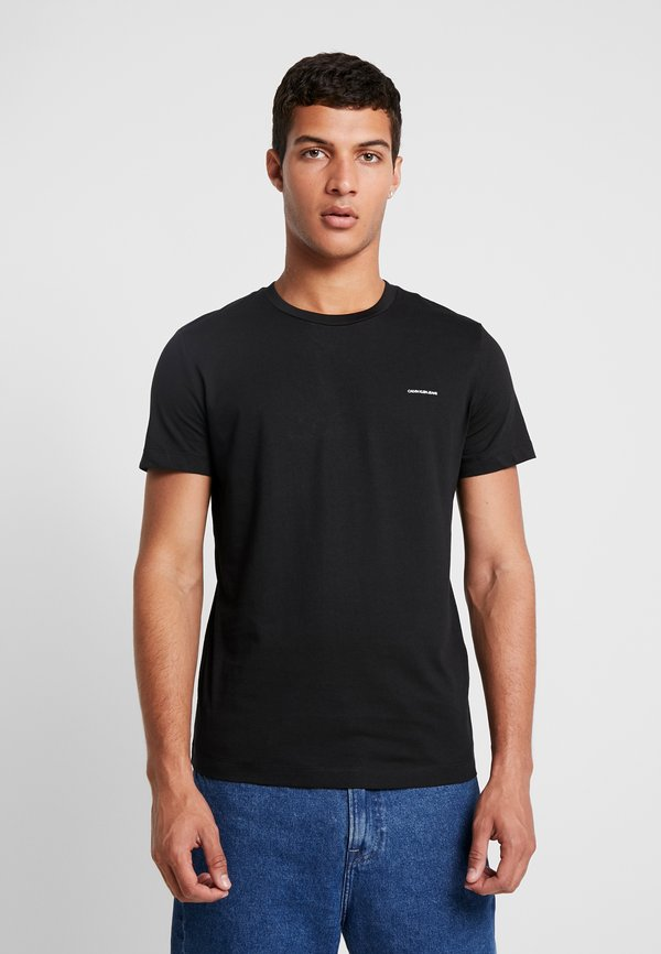 Calvin Klein Jeans SLIM FIT 2 PACK - T-shirt basic - bright white/black beauty/czarny Odzież Męska LIKD