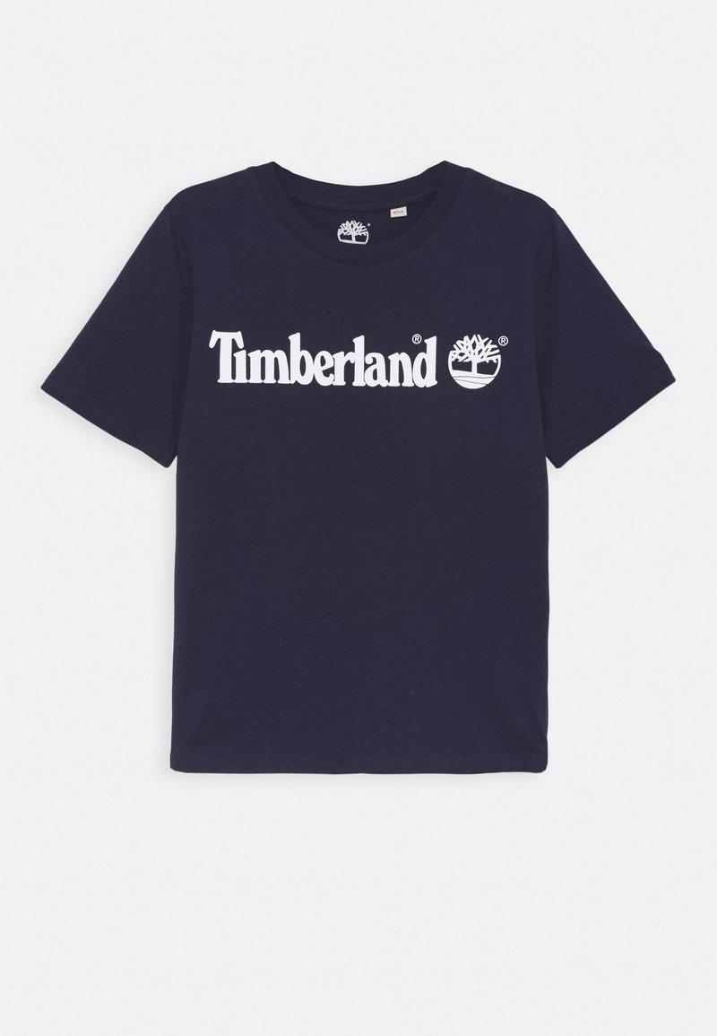 Timberland - SHORT SLEEVES TEE - Print T-shirt - navy