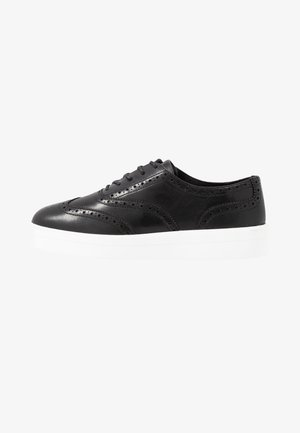 HERO BROGUE - Casual snøresko - black