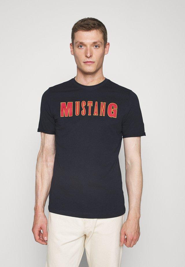 ALEX C - Print T-shirt - dark blue