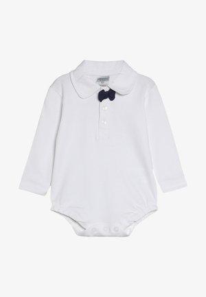 LANGARM SCHLEIFE BASIC BABY - Top sdlouhým rukávem - white/navy