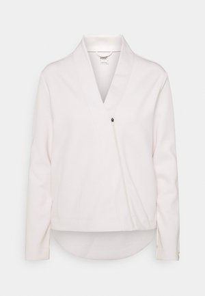 EXHALE COVER UP - Sweatjacke - pastel parchment