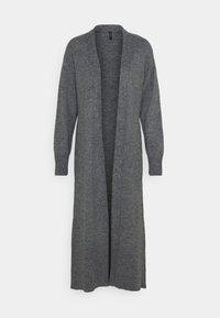 LONG CARDIGAN - Cardigan - dark grey melange