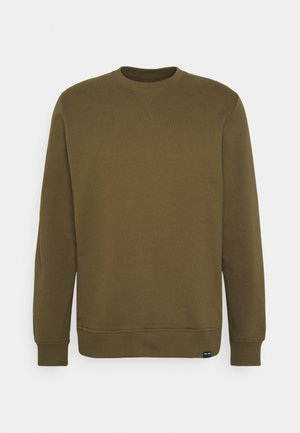 CREW NECK  - Sweatshirt - dark olive