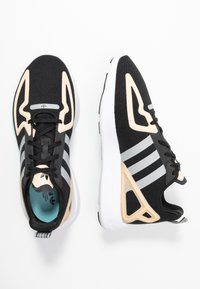 adidas Originals - ZX 2K FLUX - Baskets basses - core black/grey two/glow orange - 3
