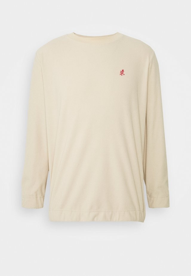 FLEECE CREW NECK - Felpa - ivory