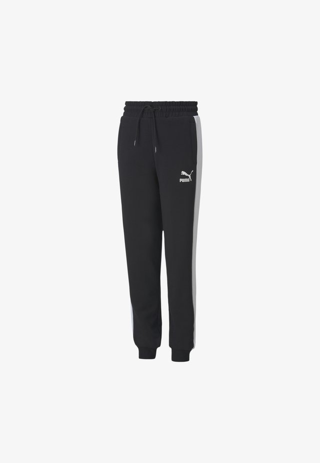 ICONIC T7 YOUTH TRACK DRENG - Tracksuit bottoms - black