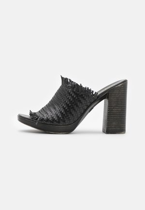 CAMERON - Heeled mules - black