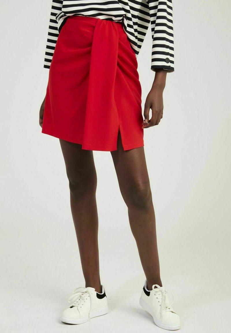 NAF NAF - A-line skirt - red