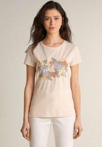 Salsa - SAMARA REGULAR - Print T-shirt - weiß - 0
