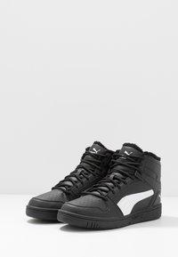 Puma - REBOUND LAYUP UNISEX - Höga sneakers - black/white - 2