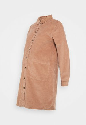 PCMPHOEBE DRESS - Shirt dress - warm taupe