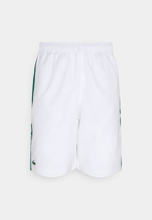 TENNIS SHORT - Träningsshorts - white/bottle green