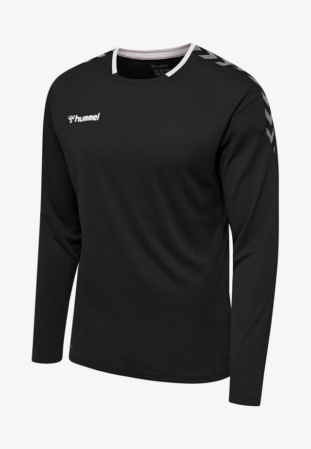 HMLAUTHENTIC - Long sleeved top - black/white
