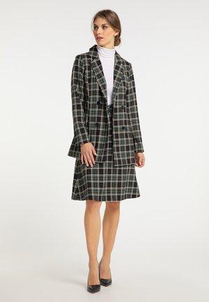 A-line skirt - schwarz weiß grün