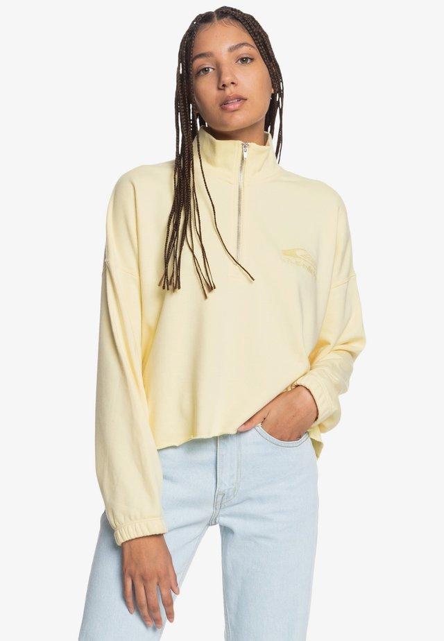 MIT REISSVERSCHLUSS- - Sweatshirt - pastel yellow