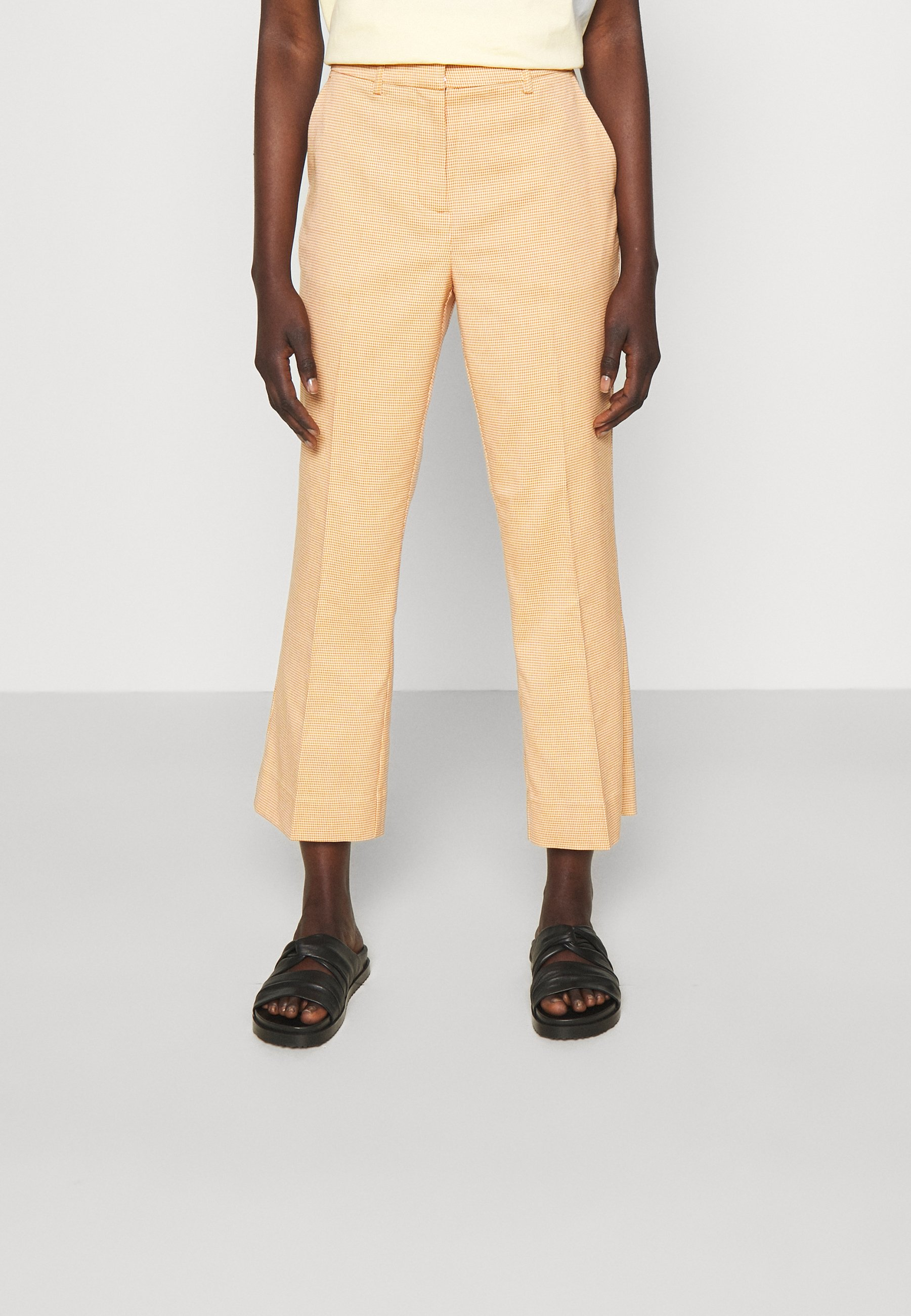Mujer JASABI CHECK TROUSER - Pantalones