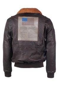 TOP GUN - Leather jacket - braun - 1