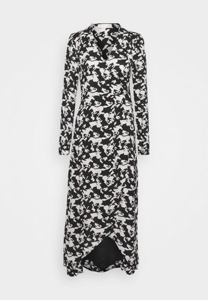 NATASJA DRESS - Maxi dress - black/warm white