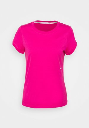 MICRO BRANDING OFF PLACED TEE - T-shirt basic - party pink