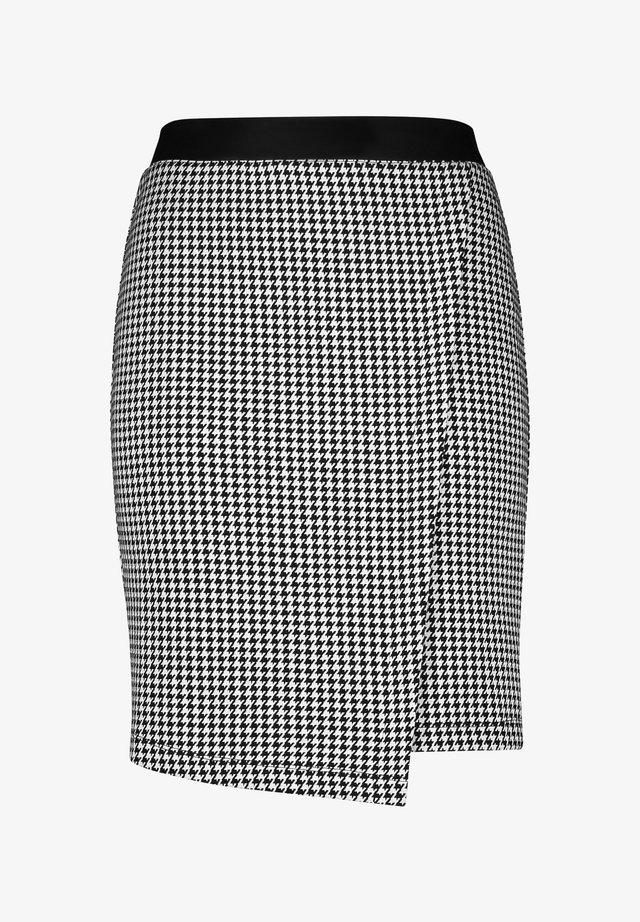 Wrap skirt - black gemustert