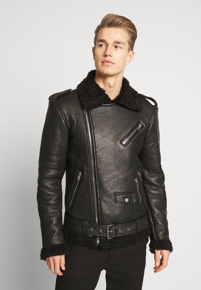 KILIAN - Leather jacket - black