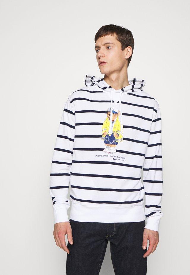 Hoodie - white/cruise navy