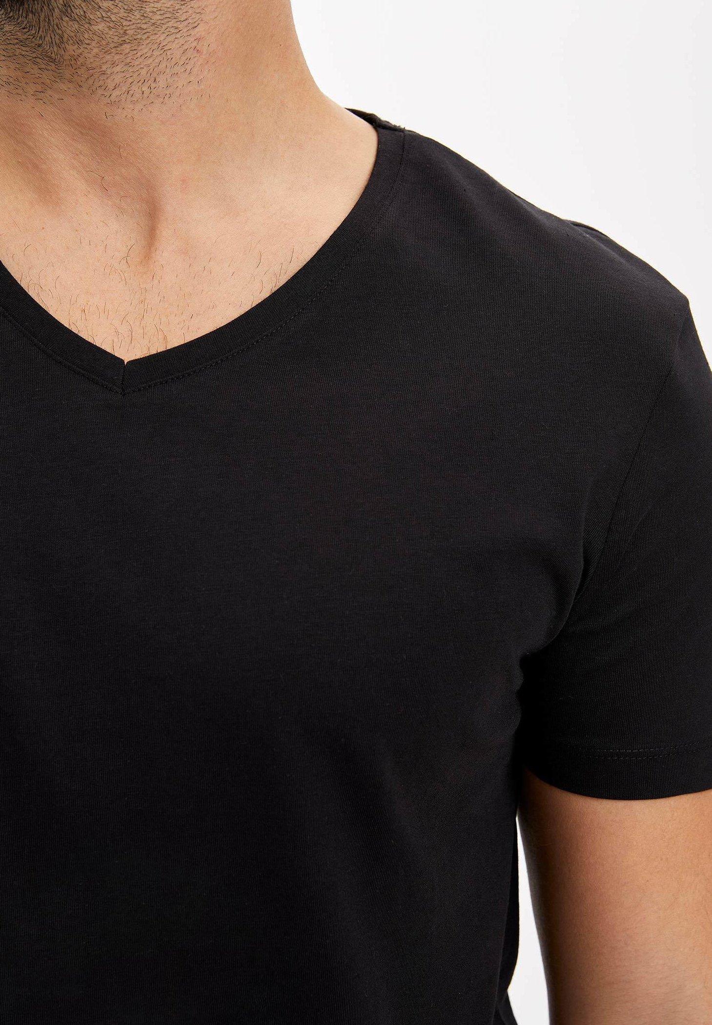 DeFacto Basic T-shirt - black tOc5f
