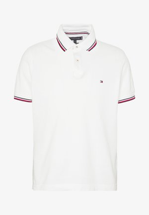 TIPPED SLIM FIT - Poloshirt - white