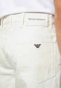 Emporio Armani - BERMUDA - Denim shorts - white - 4
