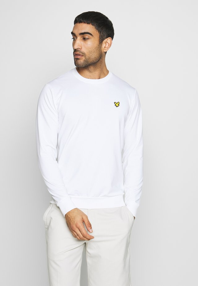 GOLF TECH CREW MIDLAYER - Felpa - white